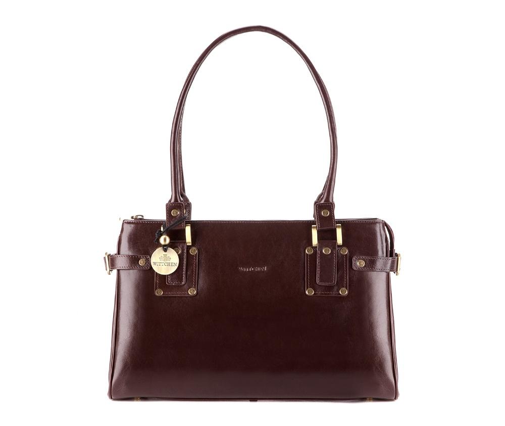 Женская сумкаЖенская сумка из коллекцииVenus&#13;<br>Основное отделение на молнии, разделено на 2 части. Внутри карман на молнии и для мобильного телефона, 2 крепления для ручек. На обратной стороне карман на молнии.<br><br>секс: женщина<br>Цвет: коричневый<br>материал:: натуральная кожа<br>высота (см):: 24<br>ширина (см):: 36<br>глубина (см):: 11.5<br>общая высота (см):: 50