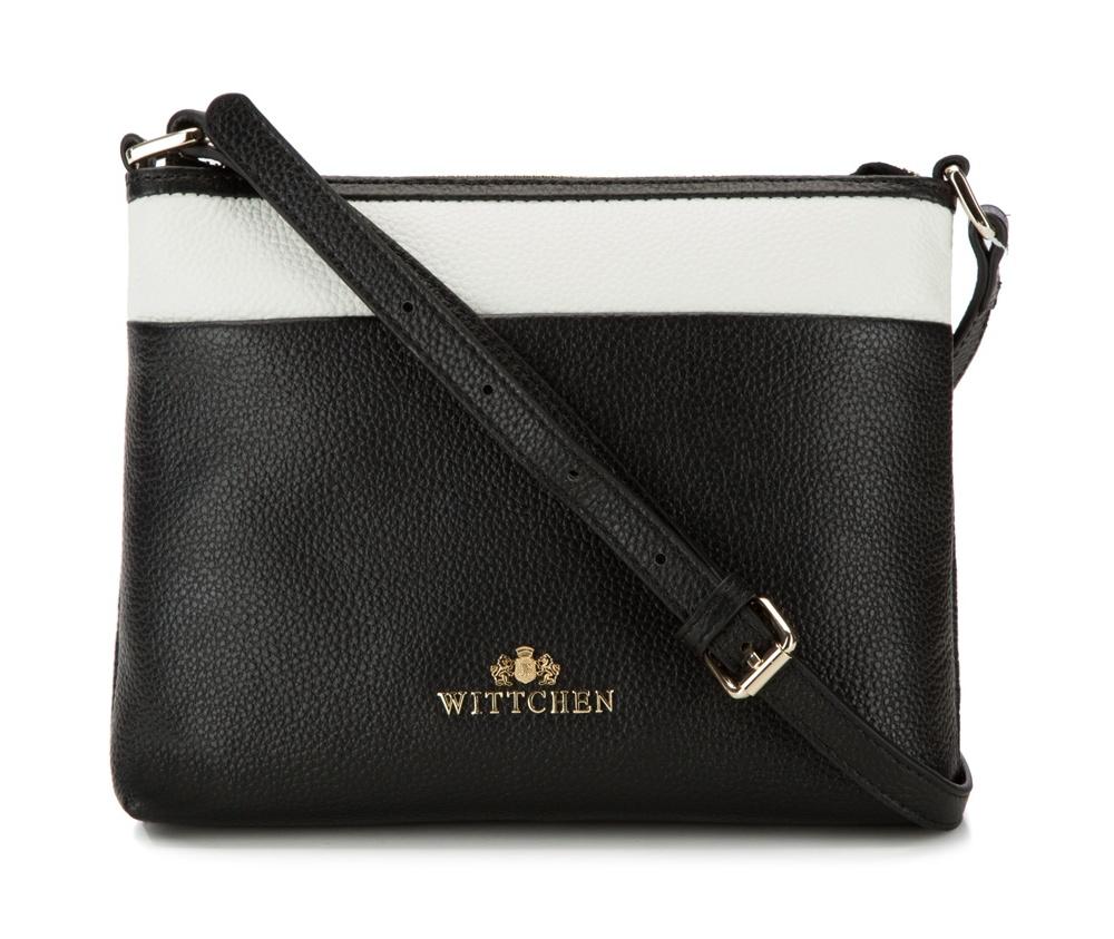 Женская сумкаЖенская сумка из коллекции Elegance 2016&#13;<br>Основной отдел       застегивается на молнию. Внутри отделение на молнии. Плечевой ремень с  возможностью регулирования его длины.<br><br>секс: женщина<br>Цвет: черный<br>материал:: натуральная кожа<br>высота (см):: 18<br>ширина (см):: 23<br>глубина (см):: 5.5<br>длина плечевого ремня (cм):: 120 - 133<br>иное :: не поместит формат А4