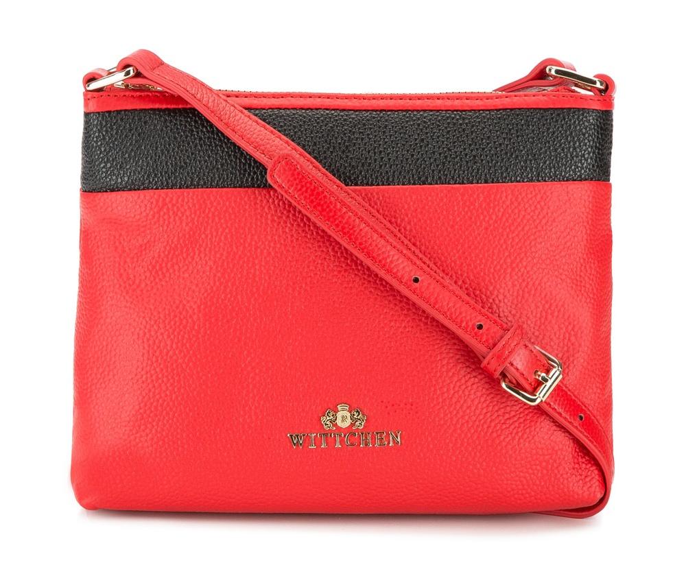 Женская сумкаЖенская сумка из коллекции Elegance 2016&#13;<br>Основной отдел       застегивается на молнию. Внутри отделение на  молнии. Плечевой ремень с  возможностью регулирования его длины.<br><br>секс: женщина<br>Цвет: красный<br>материал:: натуральная кожа<br>высота (см):: 18<br>ширина (см):: 23<br>глубина (см):: 5.5<br>вмещает формат А4: не поместит формат А4<br>длина плечевого ремня (cм):: 120 - 133