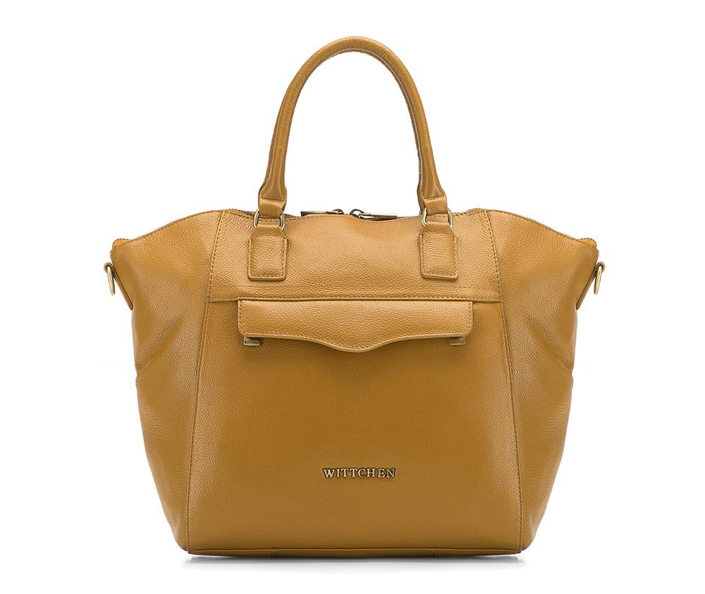 Женская сумкаЖенская сумка из коллекции Elegance 2016&#13;<br>Основной   отдел     застегивается на молнию. Внутри открытый     карман для    мелких    предметов отделение на молнии для мобильного    телефона и крепление для ручки.<br><br>секс: женщина<br>Цвет: коричневый<br>материал:: натуральная кожа<br>длина плечевого ремня (cм):: 115 - 137<br>высота (см):: 26<br>ширина (см):: 27 - 40<br>глубина (см):: 12<br>общая высота (см):: 40