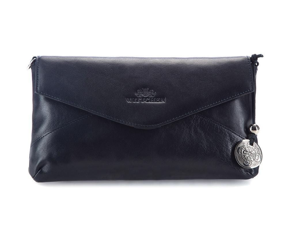 КлатчЖенская сумка из коллекцииVenus Основное отделение на магнитной застежке. Внутри сумки отделение на молнии, открытый карман для мелких предметов и отделение для мобильного телефона. Дополнительно съемный плечевой ремень с регулируемой длиной.<br><br>секс: женщина<br>Цвет: синий<br>материал:: натуральная кожа<br>высота (см):: 16<br>ширина (см):: 27<br>глубина (см):: 2