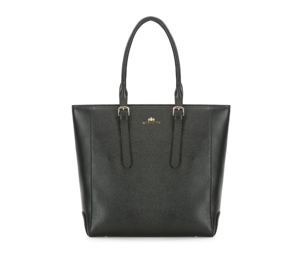 Женская сумка Wittchen 83-4E-435-1, черныйОсновной отдел застегивается на молнию, разделен карманом на молнии. Внутрикармана на молнии, открытый карман для мелких предметов и отделение для мобильного телефона.<br><br>секс: женщина<br>Цвет: черный<br>вмещает формат А4: поместит формат А4<br>материал:: Натуральная кожа<br>высота (см):: 33<br>ширина (см):: 32 - 40<br>глубина (см):: 14<br>общая высота (см):: 54 - 64<br>длина ручки/ек (см):: 50 - 70