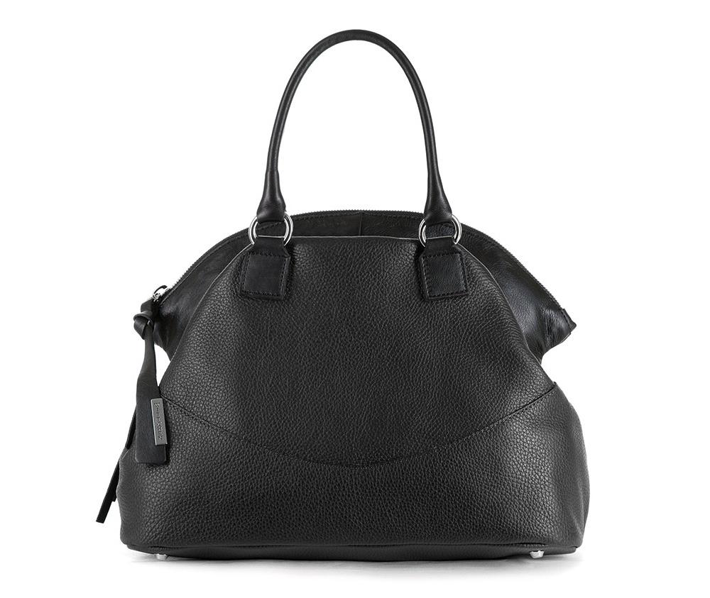 Женская сумкаЖенская сумка из коллекции EleganceОсновной отдел застегивается на молнию. Внутри карман на молнии, открытый карман для мелких предметов и отделение для мобильного телефона. Снаружи карман на молнии. Дно сумки защищено металлическими ножками. Дополнительно прилагается съемный, регулируемый ремешок.<br><br>секс: женщина<br>Цвет: черный<br>материал:: натуральная кожа<br>высота (см):: 25 - 37<br>ширина (см):: 36<br>глубина (см):: 16<br>общая высота (см):: 41<br>длина ручки/ек (см):: 43