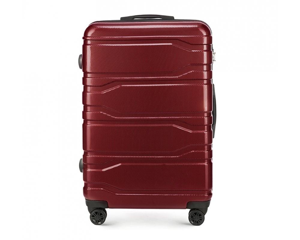 Чемодан на колёсикахБольшой чемодан из коллекции Trail Style, выполнен из очень прочного материала - поликарбоната. Модель оснащена  4 колесиками, телескопической ручкой,эластичной  и  прорезиненной ручкой для ношения в руке. Дополнительно кодовый замок TSA. , который гарантирует безопасное открытие чемоданов и его повторное закрытие без повреждения замка сотрудниками таможни.  Внутри :    отделение с эластичными ремнями, предохраняющими одежду от перемещения;  отделение на молнии;  карман на молнии.   *Указанные размеры включают в себя также выступающие элементы, такие как ручки или колеса.<br><br>секс: унисекс<br>Цвет: красный<br>материал:: Поликарбонат<br>подкладка:: полиэстр<br>высота (см):: 77<br>ширина (см):: 51<br>глубина (см):: 28<br>размер:: большой<br>объем (л):: 94<br>вес (кг):: 4,1