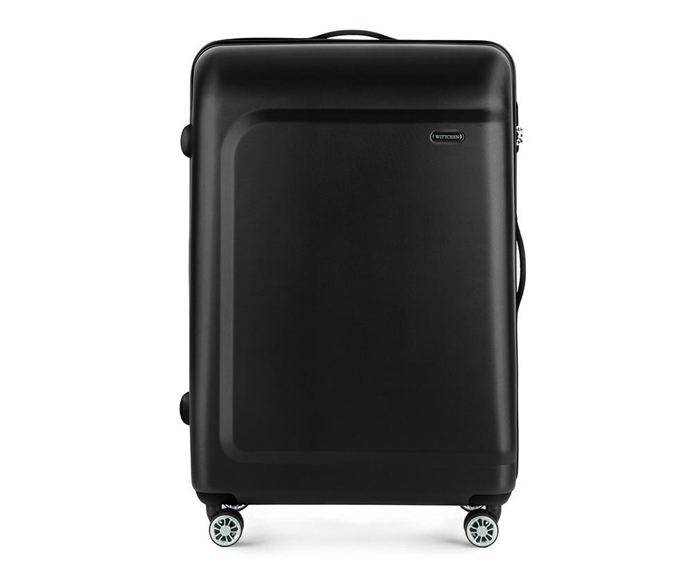Чемодан на колёсиках  27\\Большой чемодан из коллекции TP-Power изготовлен из термопластичного полимера - инновационного материала, характеризующегося высокой прочностью.  Имеет четыре колесика, подножку, телескопическую ручку и дополнительную ручка для комфорта передвижения багажа.  Внутри:    сновное отделение на молнии с регулируемыми ремнями, предохраняющими одежду от перемещения;  карман - сетки на молнии;  два кармана на молнии.<br><br>секс: унисекс<br>Цвет: черный<br>материал:: Полимер<br>подкладка:: полиэстер<br>высота (см):: 77<br>ширина (см):: 51<br>глубина (см):: 29<br>размер:: большой<br>вес (кг):: 4,7<br>объем (л):: 91