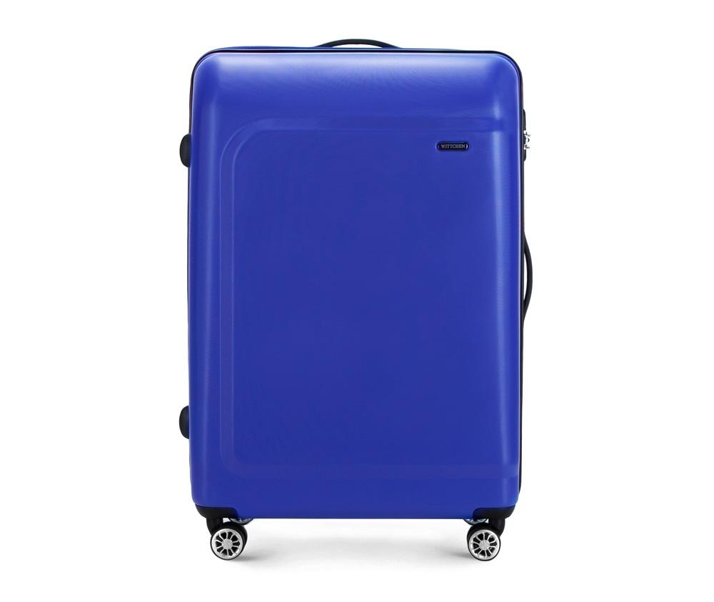 Чемодан на колёсиках  27\\Большой чемодан из коллекции TP-Power изготовлен из термопластичного полимера - инновационного материала, характеризующегося высокой прочностью.  Имеет четыре колесика, подножку, телескопическую ручку и дополнительную ручка для комфорта передвижения багажа.  Внутри:    сновное отделение на молнии с регулируемыми ремнями, предохраняющими одежду от перемещения;  карман - сетки на молнии;  два кармана на молнии.<br><br>секс: None<br>Цвет: синий<br>материал:: Полимер<br>подкладка:: полиэстер<br>высота (см):: 77<br>ширина (см):: 51<br>глубина (см):: 29<br>размер:: большой<br>объем (л):: 91<br>вес (кг):: 4,7