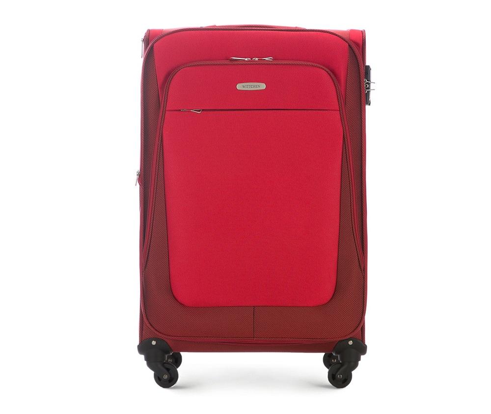 Чемодан на колесиках 27 дюймовЛегкий и вместительный чемодан больших размеров  из коллекции Travel Light. Оснащен четырьмя прочными колесиками, которые позволяют легко перемещать чемодан,телескопической ручкой, функциональными карманами на лицевой стороне и дополнительной, боковой ручкой для удобного подъема багажа. Дополнительно замоком TSA, который гарантирует безопасное открытие чемоданов и его повторное закрытие без повреждения замка сотрудниками таможни. Особенности модели:   основное отделение с регулируемыми ремнями;  карман из сетки на молнии;  карман для документов на молнии.    Снаружи:    с лицевой стороны 2 кармана на молнии;  молния, позволяющая увеличить размер чемодана на 6см;  боковой карман на молнии.<br><br>секс: унисекс<br>материал:: Полиэстер<br>высота (см):: 77<br>ширина (см):: 46<br>глубина (см):: 35<br>размер:: большой<br>объем (л):: 95<br>вес (кг):: 3.9