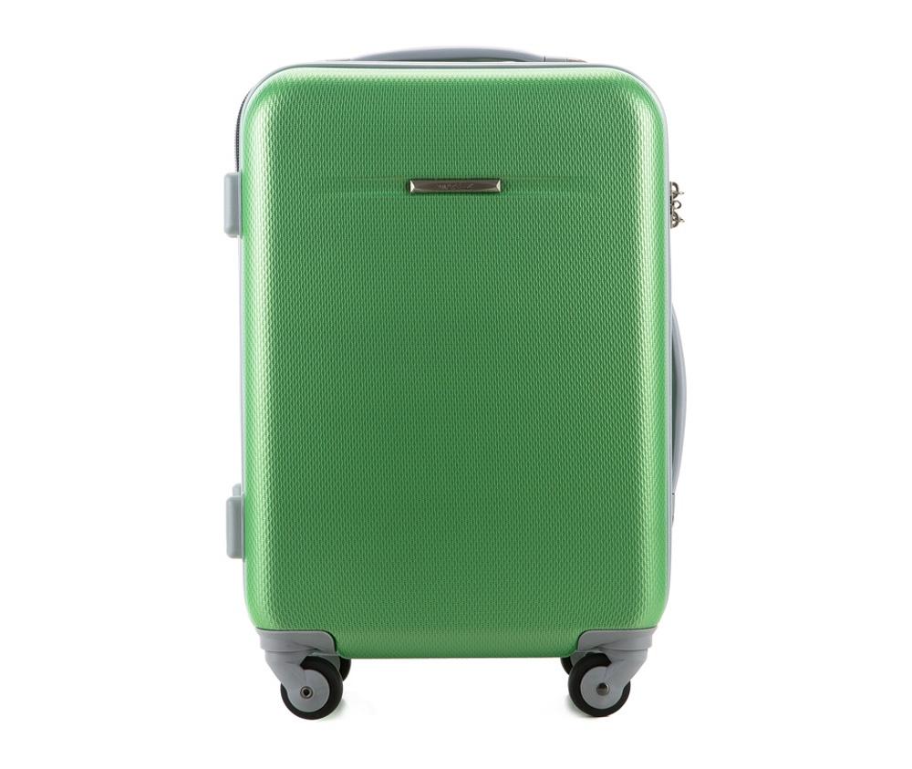 Чемодан на колёсиках 19\\Маленький чемодан из коллекции VIP Travel \Ride II\, сделан из особо прочного и легкого в уходе АБС- пластика. Имеет четыре колесика для легкого перемещения, двухуровневую выдвижную ручку, две гибкие ручки и кодовый замок.Особенности модели:    основное отделение с защитными ремнями;    отделение на молнии.Дополнительно:    размеры чемодана соответствует требованиям, предъявляемым к ручной клади в бюджетных авиакомпаниях.<br><br>секс: унисекс<br>Цвет: зеленый<br>материал:: ABS пластик<br>высота (см):: 54<br>ширина (см):: 37<br>глубина (см):: 20<br>вес (кг):: 2.7<br>объем (л):: 27