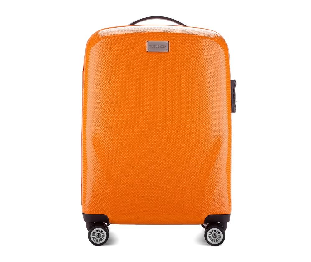 Чемодан на колёсиках 20\\ Wittchen 56-3-571-55, оранжевыйМаленький чемодан из коллекции PC Ultra Light сделан из ударопрочного поликарбоната, имеет 4 колесика сделанные из пластика ABS с термопластичным покрытием, трехступенчатая выдвижная ручка, резиновая ручка для ношения в руке, лицензионный кодовый замок TSA.     Особенности модели:    основное отделение с эластичными ремешками и застежкой-молнией;  отделение на молнии;  2 кармана-сетки на молнии.<br><br>секс: унисекс<br>Цвет: оранжевый<br>материал:: Поликарбонат<br>высота (см):: 56<br>ширина (см):: 37<br>глубина (см):: 20<br>вес (кг):: 2.3<br>объем (л):: 32