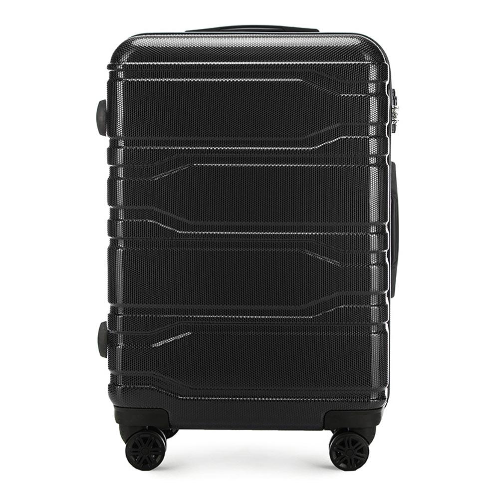Чемодан на колёсикахСредний чемодан из коллекции Trail Style, выполнен из очень прочного материала - поликарбоната. Модель оснащена  4 колесиками, телескопической ручкой,эластичной  и  прорезиненной ручкой для ношения в руке. Дополнительно кодовый замок TSA. , который гарантирует безопасное открытие чемоданов и его повторное закрытие без повреждения замка сотрудниками таможни.  Внутри :    отделение с эластичными ремнями, предохраняющими одежду от перемещения;  отделение на молнии;  карман на молнии.   *Указанные размеры включают в себя также выступающие элементы, такие как ручки или колеса.<br><br>секс: унисекс<br>Цвет: черный<br>материал:: Поликарбонат<br>подкладка:: полиэстр<br>высота (см):: 67<br>ширина (см):: 44<br>глубина (см):: 24<br>размер:: средний<br>объем (л):: 58<br>вес (кг):: 3,3