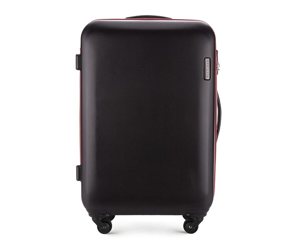 Чемодан на колёсиках 24\\Средний чемодан из коллекции ABS S-Line сделан из высокопрочного и устойчивого к царапинам пластика ABS. Выдвижная ручка, главное отделение на молнии с кодовым замком TSA, разделённое на две части: одно отделение с фиксирующими ремнями для одежды, второе отделение закрывается на молнию, внутренний карман на молнии.<br><br>секс: унисекс<br>Цвет: черный<br>материал:: ABS пластик<br>высота (см):: 71<br>ширина (см):: 47.5<br>глубина (см):: 24<br>вес (кг):: 3.8<br>объем (л):: 64