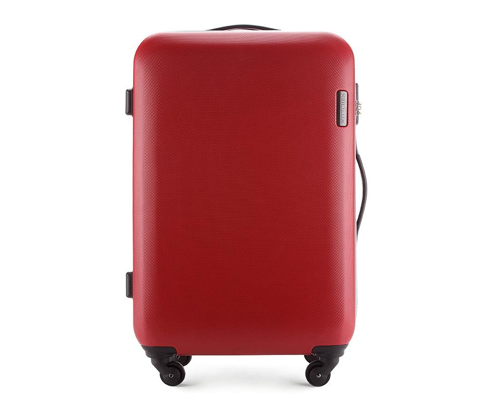 Чемодан на колёсиках 24\\ Wittchen 56-3-612-30, красныйСредний чемодан из коллекции ABS S-Line сделан из высокопрочного и устойчивого к царапинам пластика ABS. Выдвижная ручка, главное отделение на молнии с кодовым замком TSA, разделённое на две части: одно отделение с фиксирующими ремнями для одежды, второе отделение закрывается на молнию, внутренний карман на молнии.<br><br>секс: унисекс<br>материал:: ABS пластик<br>высота (см):: 71<br>ширина (см):: 47.5<br>глубина (см):: 24<br>вес (кг):: 3.8<br>объем (л):: 64