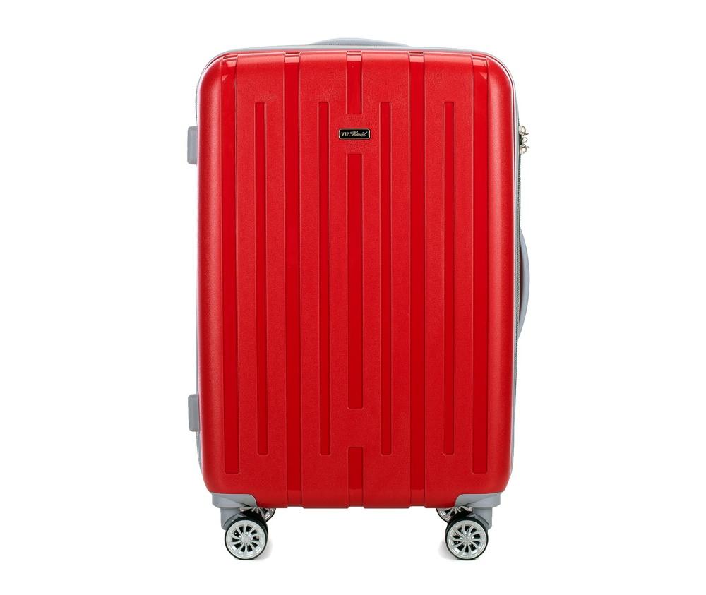 Чемодан на колёсиках 24\\Чемодан среднего размера из коллекции VIP Travel \Snappy\, сделан из стойкого пластика - полипропилена. Имеет четыре двойных колесика, позволяющие без усилий перемещать чемодан, трехуровневую телескопическую ручку и дополнительную резиновую ручку, кодовый замок с системой TSA.&#13;<br>Особенности модели:&#13;<br>&#13;<br>    отделение с эластичными ремешками&#13;<br>    отделение на молнии.<br><br>секс: унисекс<br>материал:: Полипропилен<br>высота (см):: 67<br>ширина (см):: 45<br>глубина (см):: 26<br>вес (кг):: 3.9<br>объем (л):: 50