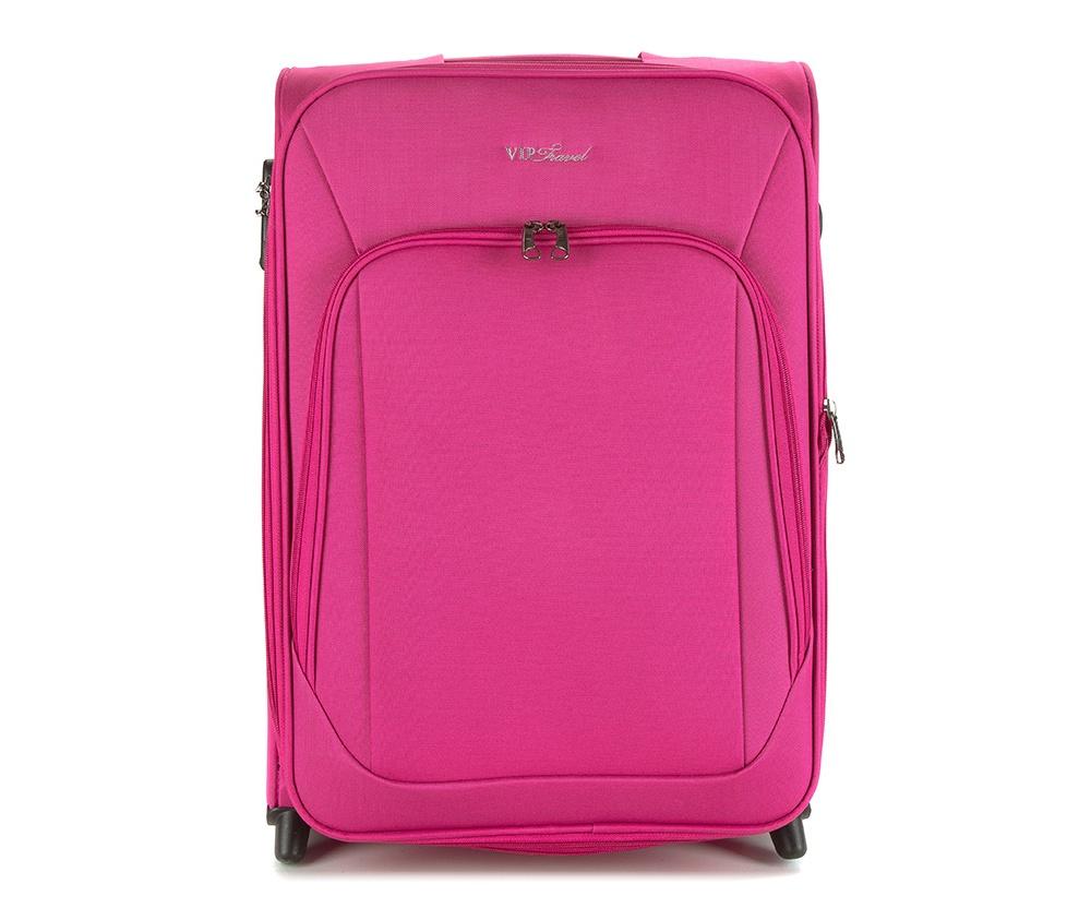 Чемодан текстильныйСредний легкий чемодан из коллекции Sim Line, сделана из  высокопрочного полиэстера. Два прочных колеса позволяют легко перемещать  чемодан. Имеет телескопическую ручку с фиксатором и две дополнительные   боковые ручки, кодовый замок для надежной защиты вещей.&#13;<br>Особенности модели: &#13;<br>&#13;<br>&#13;<br>    основное отделение с эластичными ремешками  на молнии&#13;<br>    отделение на молнии.&#13;<br>&#13;<br>Снаружи:&#13;<br>&#13;<br>    отделение на молнии&#13;<br>    на тыльной стороне бирка с местом для информации о владельце.<br><br>секс: женщина<br>Цвет: розовый<br>материал:: Полиэстер<br>подкладка:: полиэстер<br>высота (см):: 59<br>ширина (см):: 41<br>глубина (см):: 26<br>вес (кг):: 3.4<br>объем (л):: 54