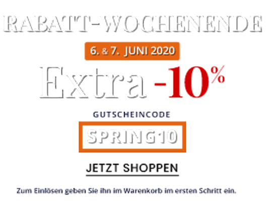 EXTRA -10% RABATT-WOCHENENDE