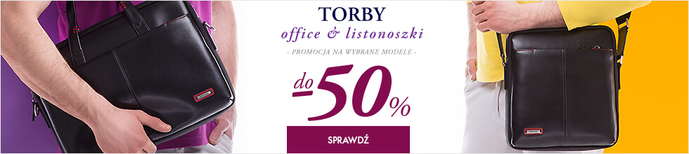 Torby office i listonoszki do -50%