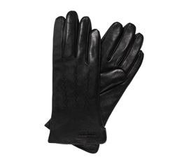 Rękawiczki damskie, czarny, 39-6L-264-1-L, Zdjęcie 1