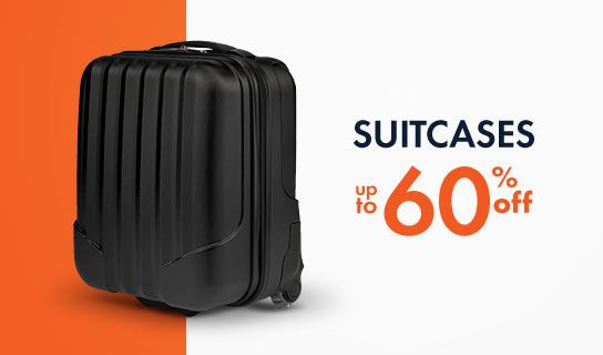 suitcases 60% off