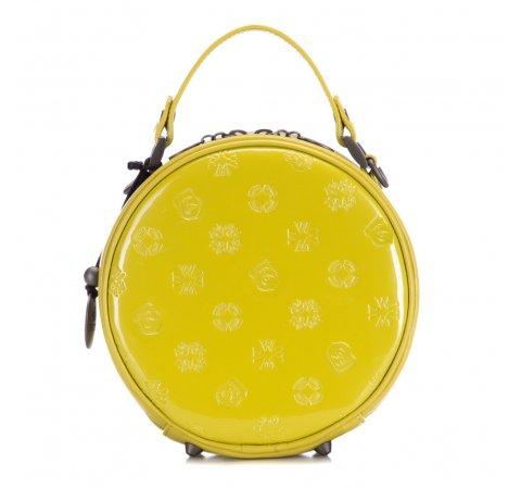 Żółta okrągła torebka