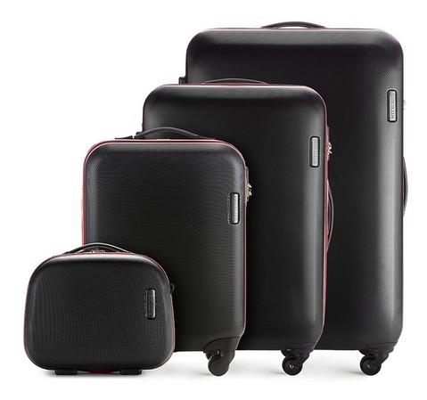 czarny zestaw walizek z kolekcji ABS S-Line
