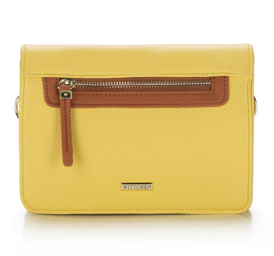 żółta torebka