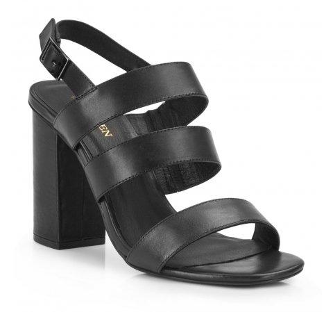 Czarne sandały gladiatorki