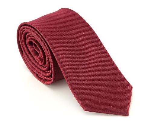 Czerwony krawat z jedwabiu