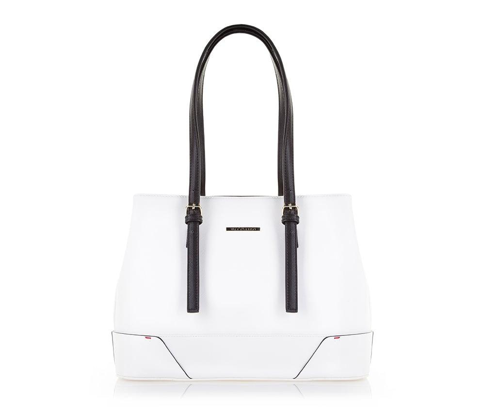 Biała nowoczesna torebka