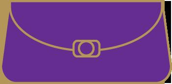 fioletowe torebki wieczorowe