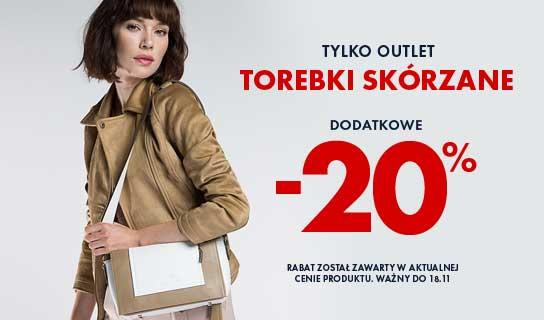 TOREBKI SKÓRZANE OUTLET - DODATKOWE 20% RABATU
