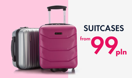 suitcases from 99 PLN