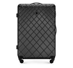 ABS nagy bőrönd ferde ráccsal, acél - fekete, 56-3A-553-11, Fénykép 1