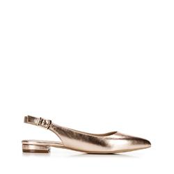 Női bőr félcipő sarok nélkül, Arany, 92-D-553-P-39, Fénykép 1