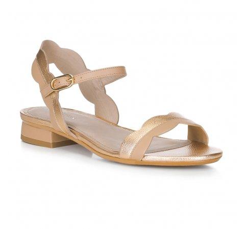 Női cipő, arany-bézs, 88-D-559-5-36, Fénykép 1