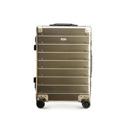 Kis kabinbőrönd alumíniumból TSA zárral, Arany, 56-3H-101-86, Fénykép 1