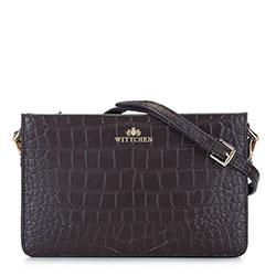 Női kisméretű táska croco bőrből, barna, 93-4E-619-4, Fénykép 1