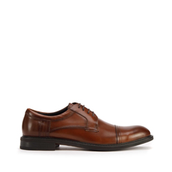 Férfi klasszikus bőr derby cipő, barna, 93-M-526-4-45, Fénykép 1