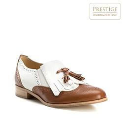 Női cipő, barna-fehér, 82-D-118-04-37, Fénykép 1