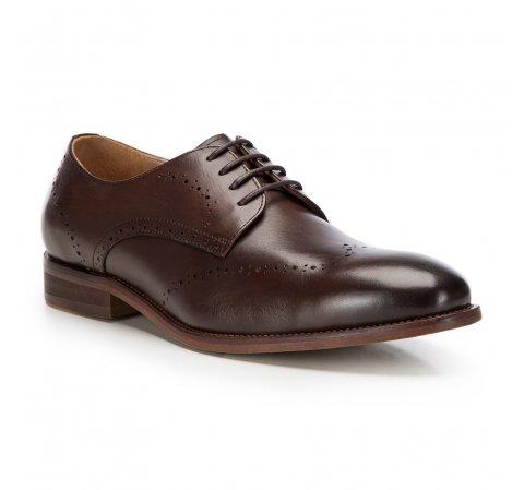 Férfi cipő, barna, 86-M-919-1-45, Fénykép 1