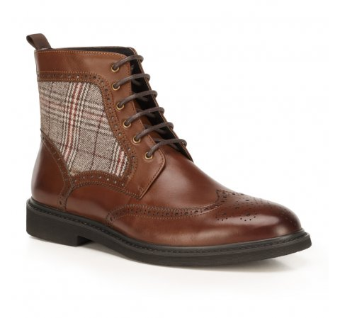 Férfi cipők, barna, 89-M-517-4-43, Fénykép 1