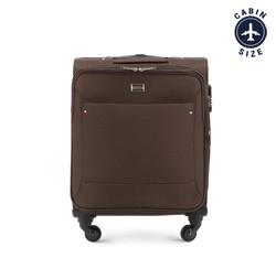 Kabinbőrönd egyszínű, barna, 56-3S-531-80, Fénykép 1