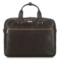 Laptop bőrtáska klasszikus, barna, 91-3U-303-4, Fénykép 1