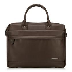 Laptop táska eco bőrből rejtett zsebbel, barna, 91-3P-600-4, Fénykép 1