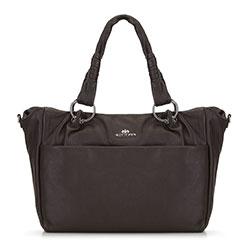 Női retikül táska zsebbel, barna, 91-4E-313-4, Fénykép 1