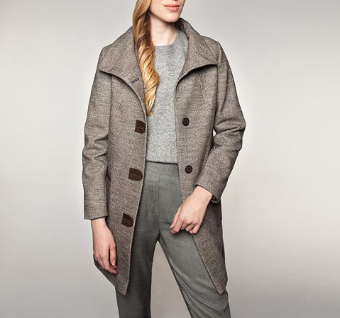 Női kabát, barna, 85-9W-110-4-XL, Fénykép 1