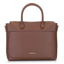 Női táska zsebbel  egy netbook számára, barna, 92-4Y-221-5, Fénykép 1