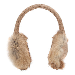 Ohrenschützer für Frauen, beige-braun, 87-HF-022-9, Bild 1