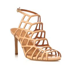 Damen Sandalen, beige, 84-D-717-9-38, Bild 1