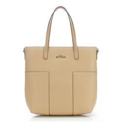 Einkaufstasche, beige, 86-4E-430-9, Bild 1