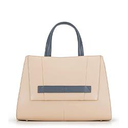 Einkaufstasche, beige-grau, 90-4E-364-9, Bild 1
